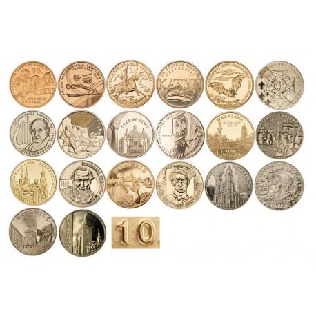 Komplet monet 2 zł z roku 2010