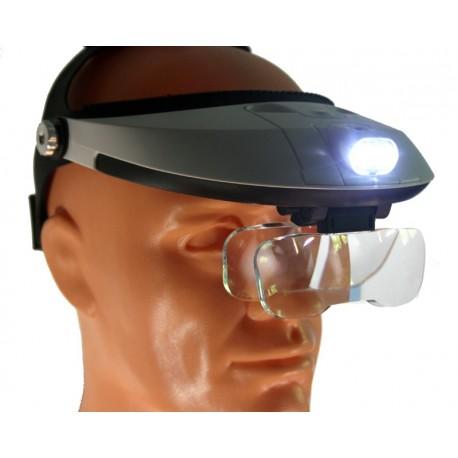 Lupa nagłowna 5 soczewek + LED - powystawowa