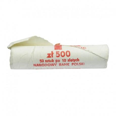 Rolka bankowa 50 szt. x 10 zł, 1990, mennicze