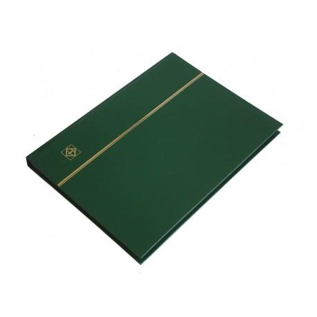 Klaser na znaczki Leuchtturm, 32 strony, zielony, CZARNE karty
