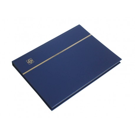 Klaser na znaczki Leuchtturm, 32 strony, niebieski, CZARNE karty