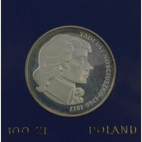 100 zł, Tadeusz Kościuszko, 1976