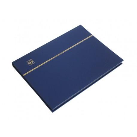 Klaser na znaczki Leuchtturm, 16 stron, niebieski, CZARNE karty