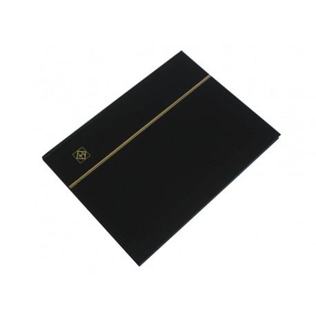 Klaser na znaczki Leuchtturm, 16 stron, czarny, BIAŁE karty