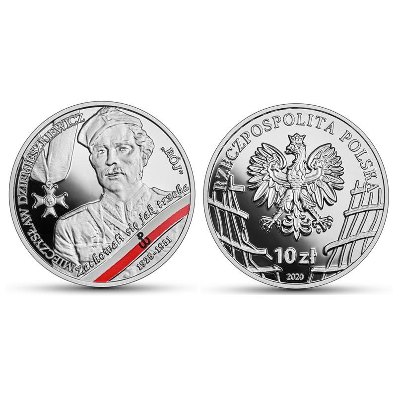 """10 zł Żołnierze niezłomni – Mieczysław Dziemieszkiewicz """"Rój"""""""