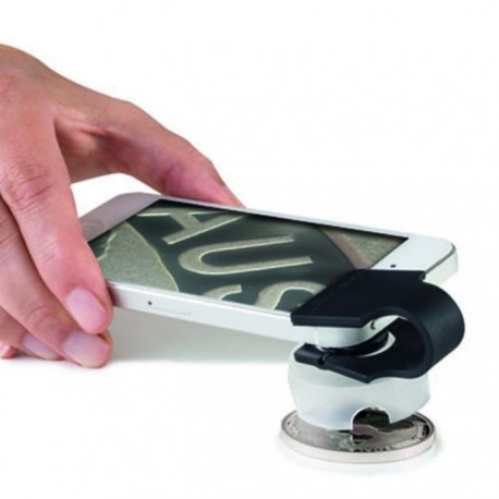 Lupa-Mikroskop Leuchtturm 60x do smartphona lub tabletu