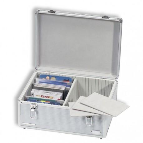 Kuferek aluminiowy do przechowywania monet w blistrach, CD itp.