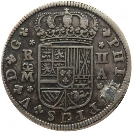 2 reale, Hiszpania, 1721, Sewilla