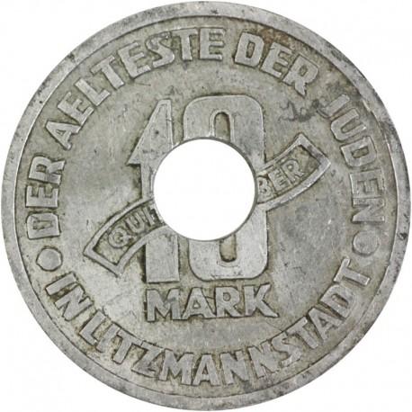 Getto Łódź, 10 marek 1943, oryginał, otwór