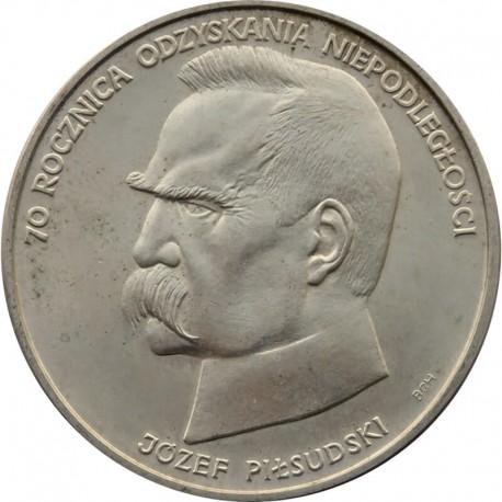 50.000 złotych Piłsudski 70 rocznica niepodległości, 1988, Srebro Ag