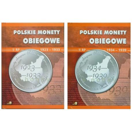 Albumy na polskie monety obiegowe II RP, 1923-1939, - 2 tomy