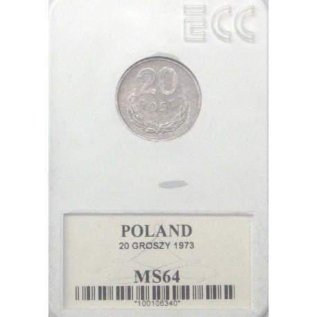 20 groszy, 1973, MS 64