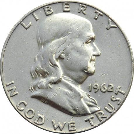 Half dollar, 1/2 Dolara 1962 D - FRANKLIN