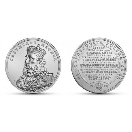 50 zł Skarby Stanisława Augusta – Kazimierz Wielki
