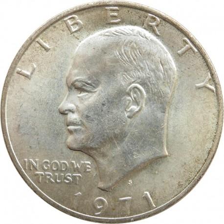 USA 1 dolar, 1971 Eisenhower, srebro