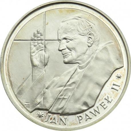 10 000zł Jan Paweł cienki krzyż 1988