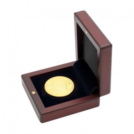 Mahoniowe etui na monetę o średnicy kapsuły do 41 mm