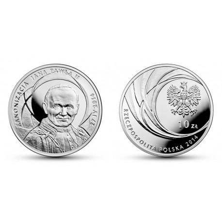 10 zł Kanonizacja Jana Pawła II 27 kwietnia 2014