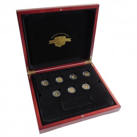 Najmniejsze złote monety świata - komplet 22 sztuki