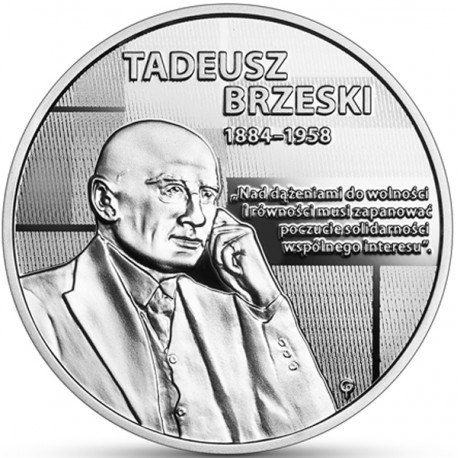 10 zł Wielcy polscy ekonomiści - Tadeusz Brzeski