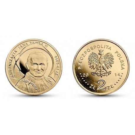 2 zł, Kanonizacja Jana Pawła II - 27.04.2014