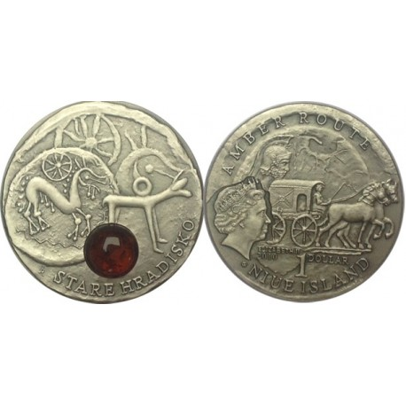 1 $, Szlak bursztynowy - Stare Hradisko