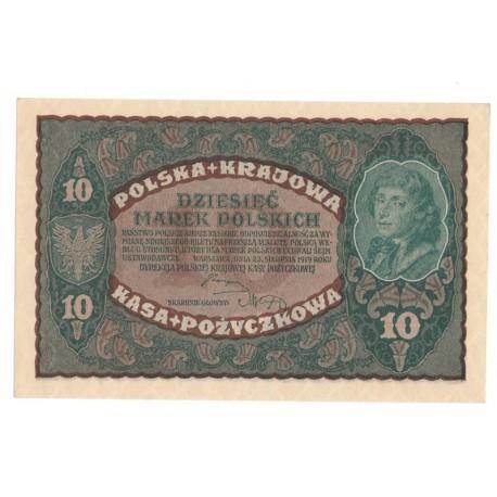 10 marek polskich (PKKP), rok 1919, stan 1, seria BK