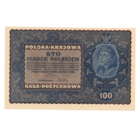 100 marek polskich (PKKP), rok 1919, stan 1, IF Serja Z