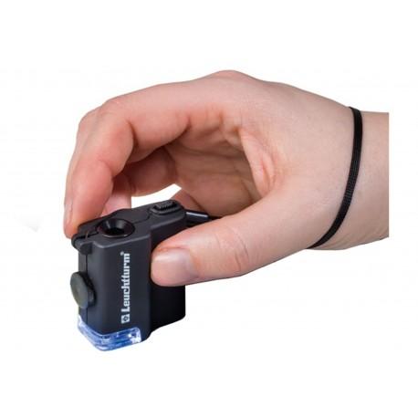Mikroskop kieszonkowy z LED Leuchtturm powiększenie x 15