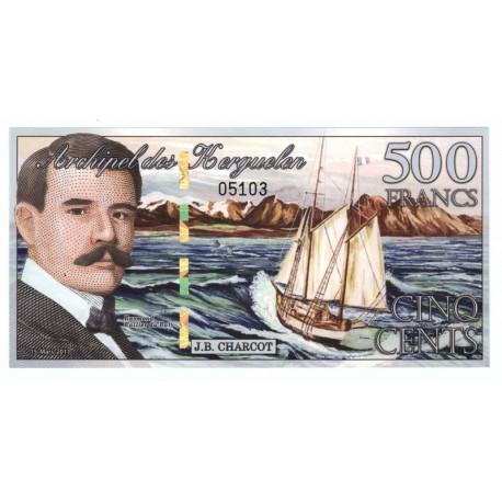 500 francs, Wyspy Kerguelena, polimer, 2012