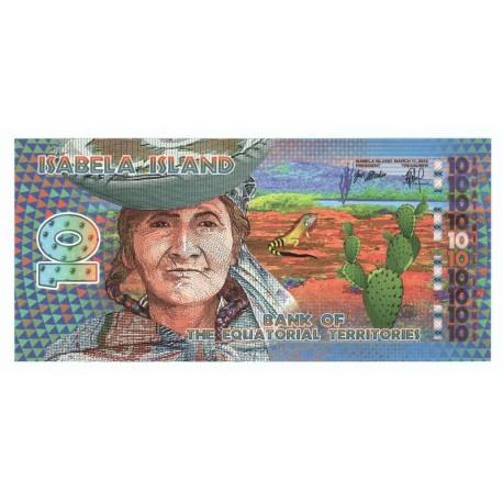 10 francs, Terytoria równikowe, polimer, 2014