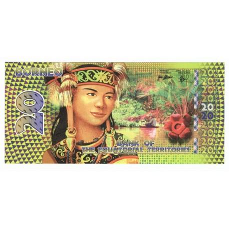 20 francs, Terytoria równikowe, polimer, 2014