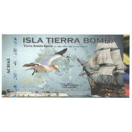 2000 cafeteros, Kolumbia, Wyspa Tierra Bomba, polimer, 2014