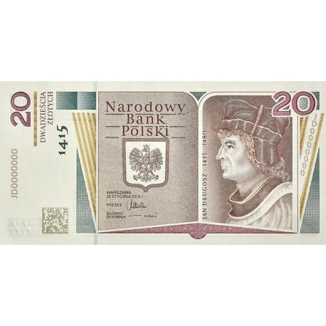 20 zł, 600. rocznica urodzin Jana Długosza