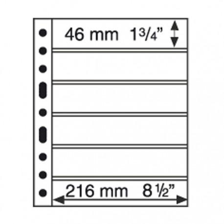 Koszulka Grande 6 okien, np do znaczków, czarne tło
