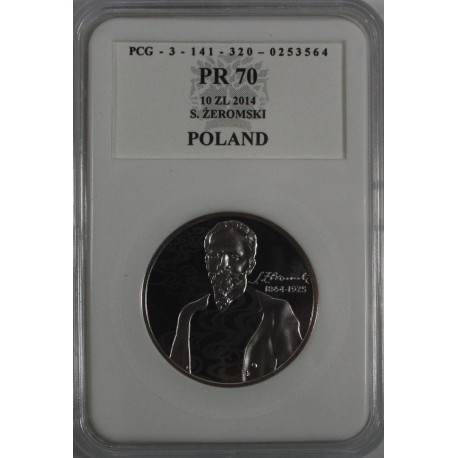 10 zł 150. rocznica urodzin Stefana Żeromskiego PR70