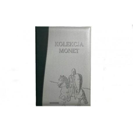 Album na 48 monet PRL w kapslach z kwadratowymi rogami SKÓRA