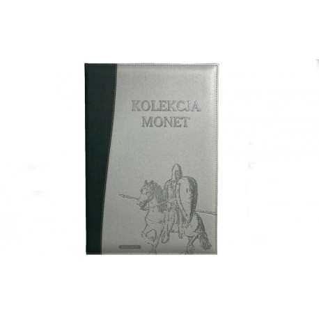Album na 48 monet PRL w kapslach z zaokrąglonymi rogami SKÓRA