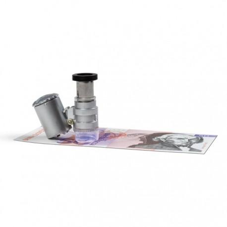 Kieszonkowy mikroskop MINISCOPE o powiększeniu 20x, LED i UV