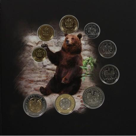 Zestaw polskich monet obiegowych 2015