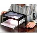 Duża lupa - stolik do czytania x3, z podświetleniem 4x led