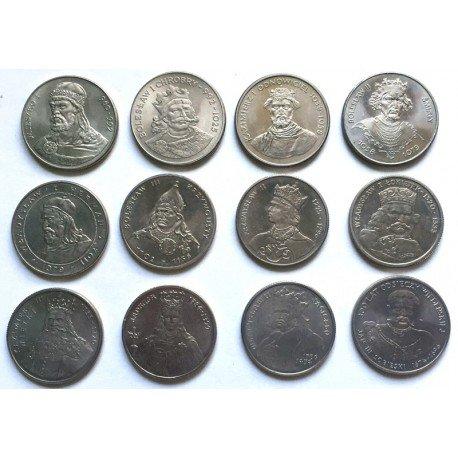 Zestaw 12 monet Poczet Królów Polskich
