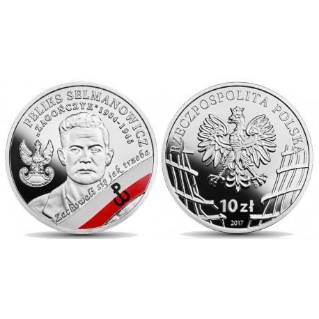 """10 zł, Żołnierze Niezłomni - Feliks Salmanowicz """"Zagończyk"""""""
