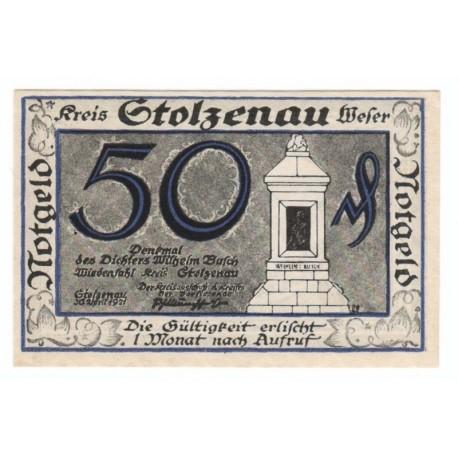 50 Pf banknot zastępczy miasto Stolzenau 1921