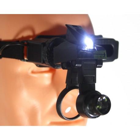 Profesjonalna lupa nagłowna powiększenie do x28 +oświetlenie LED