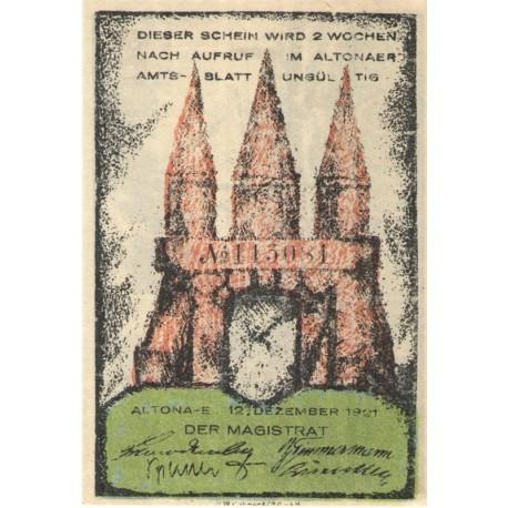 60 Pf banknot zastępczy Altona 1921