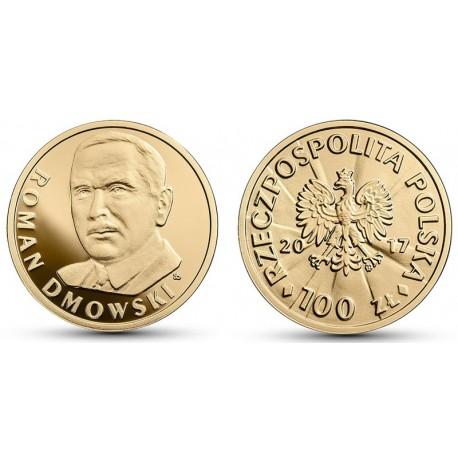100 zł Stulecie odzyskania niepodległości - Roman Dmowski złoto