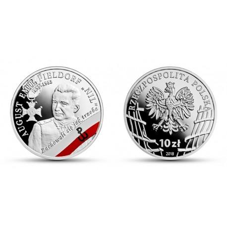 10 zł żołnierze niezłomni - August Emil Fieldorf Nil 2018