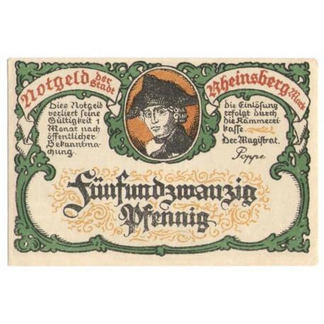 25 Pf banknot zastępczy Heinsberg