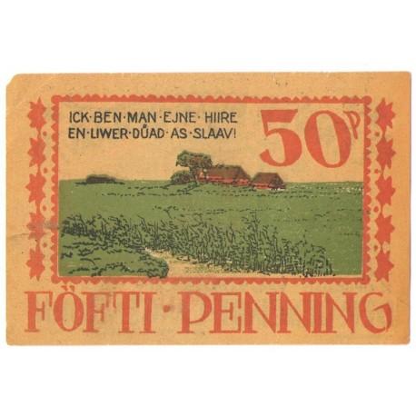 50 Pf banknot zastępczy Langenhorn 1922